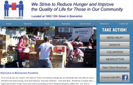 Nonprofit Website -  Bremerton Foodline