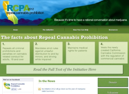 Nonprofit Website -  Repeal Cannibus Prohibition