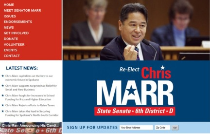 Campaign Website Chris Marr