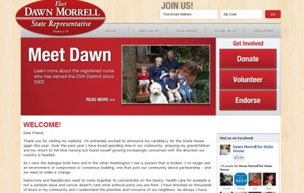 Campaign Website -  Dawn Morrell