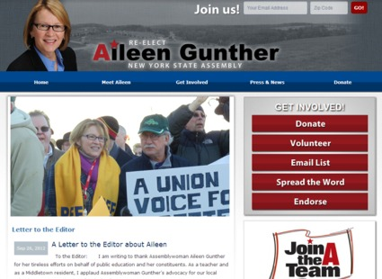 Campaign Website -  Aileen Gunther
