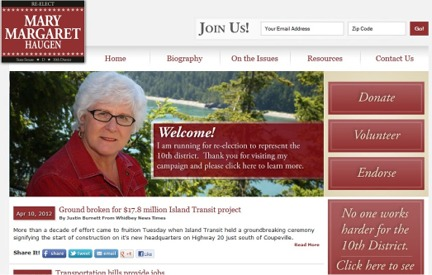 Campaign Website -  Mary Margaret Haugen
