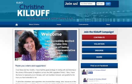 Campaign Website -  Christine Kilduff