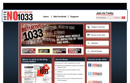 Campaign Website No on 1033