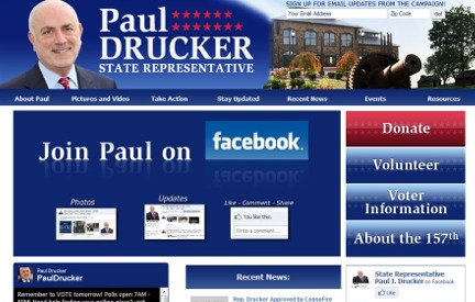 Campaign Website Paul Drucker