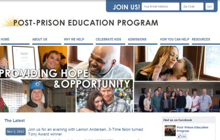 Nonprofit Website -  Post-Prison Education Program