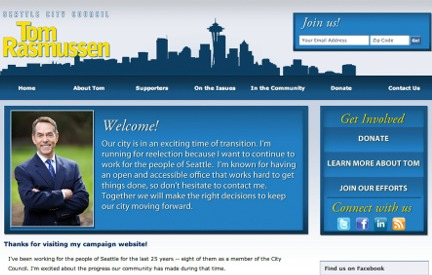Campaign Website Tom Rasmussen