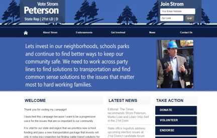 Campaign Website -  Strom Peterson