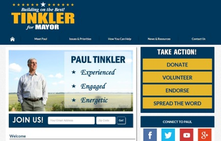 Campaign Website -  Paul Tinkler
