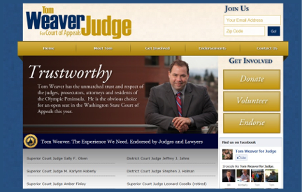 Campaign Website Tom Weaver